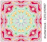 decorative colorful mandala... | Shutterstock .eps vector #1251193987
