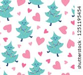 seamless christmas pattern.... | Shutterstock .eps vector #1251195454