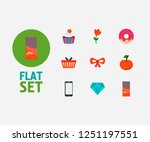 shop icons set. muffin and shop ...
