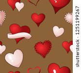 happy valentines day red ... | Shutterstock .eps vector #1251199267