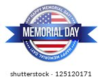 Stock photo memorial day us seal and banner illustration design 125120171