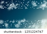 vector snow background. holiday ... | Shutterstock .eps vector #1251224767