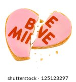 pink frosted be mine heart... | Shutterstock . vector #125123297