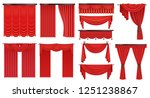 realistic luxury scarlet red... | Shutterstock .eps vector #1251238867