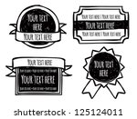 set of emblem in doodle style | Shutterstock .eps vector #125124011