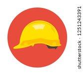 construction helmet flat icon.... | Shutterstock .eps vector #1251243391