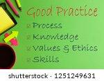 good practice text messages ... | Shutterstock . vector #1251249631