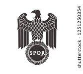 logo of the roman eagle. | Shutterstock .eps vector #1251250354