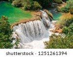 plitvice lakes of croatia  ...   Shutterstock . vector #1251261394