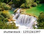 plitvice lakes of croatia  ...   Shutterstock . vector #1251261397