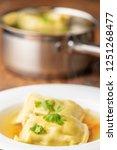 swabian maultasche in broth    Shutterstock . vector #1251268477