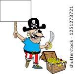 cartoon illustration of a... | Shutterstock . vector #1251273721