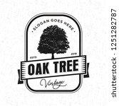 oak tree logo vintage | Shutterstock .eps vector #1251282787