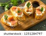 antipasti snacks for wine.... | Shutterstock . vector #1251284797