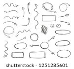 hand drawn line symbols on... | Shutterstock .eps vector #1251285601