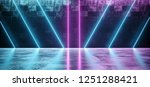 abstract sci fi futuristic... | Shutterstock . vector #1251288421
