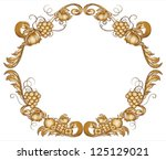 illustration of a brown border... | Shutterstock .eps vector #125129021
