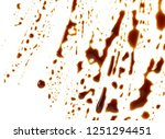 puddle of soy sauce isolated.... | Shutterstock . vector #1251294451
