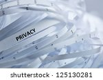 Shredded paper series - privacy. - stock photo