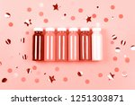 bottles of living coral...   Shutterstock . vector #1251303871