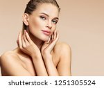 beautiful girl with beautiful... | Shutterstock . vector #1251305524