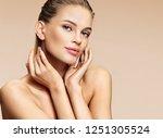 beautiful girl with beautiful... | Shutterstock . vector #1251305524