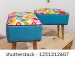 poufs furniture detail | Shutterstock . vector #1251312607