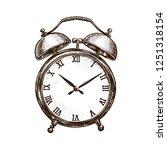 vintage alarm clock. time... | Shutterstock .eps vector #1251318154