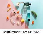 perfume bottles with different... | Shutterstock . vector #1251318964