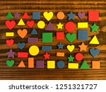 wood with geometry shapes.... | Shutterstock . vector #1251321727