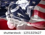 close up of american flag... | Shutterstock . vector #1251325627