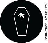 coffin simlpe logo | Shutterstock . vector #1251341191