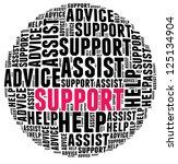 support in word cloud | Shutterstock . vector #125134904