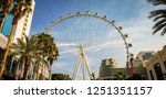 the high roller  las vegas ... | Shutterstock . vector #1251351157