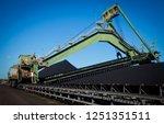 reclaimer stacker in coal mine... | Shutterstock . vector #1251351511