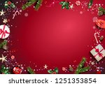 bright red holiday illustration ... | Shutterstock .eps vector #1251353854