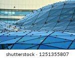 building structures aluminum... | Shutterstock . vector #1251355807