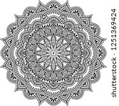mandala pattern black and white ...   Shutterstock .eps vector #1251369424