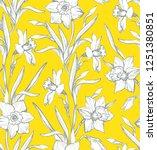 botanical spring seamless...   Shutterstock .eps vector #1251380851