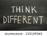 think different phrase...   Shutterstock . vector #125139365