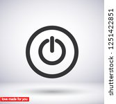 power off icon vector | Shutterstock .eps vector #1251422851