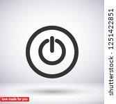power off icon vector | Shutterstock .eps vector #1251422851