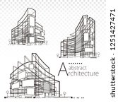 3d illustration architecture... | Shutterstock .eps vector #1251427471