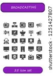 vector icons pack of 25 filled... | Shutterstock .eps vector #1251427807