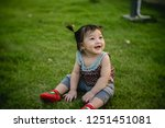 smile asian baby girl playing... | Shutterstock . vector #1251451081