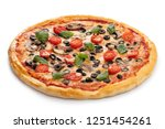 Pizza Vegetarian Isolated On...