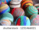 colorful handmade woven... | Shutterstock . vector #1251466021