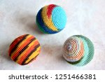 colorful handmade woven... | Shutterstock . vector #1251466381