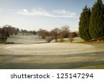 A Golf Course Drapped In Winter ...