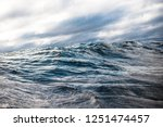 Winter Sailing. Cold Blue Sea...